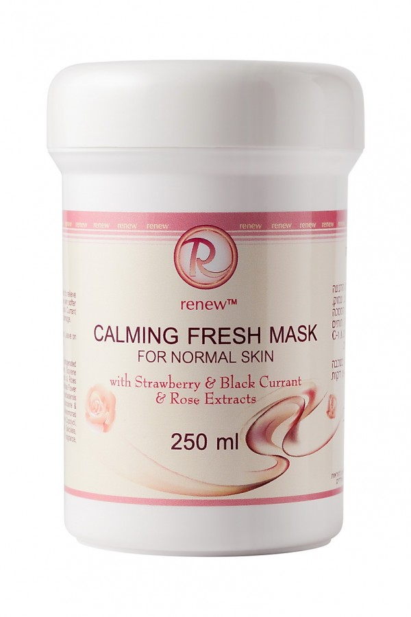 Успокаивающая и освежающая маска для нормальной кожи с экстрактами клубники черной смородины и розы RENEW